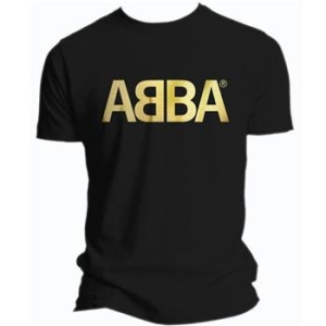 Abba - S/Logo Gold Blk Ts in the group OTHER / Merchandise at Bengans Skivbutik AB (171899)