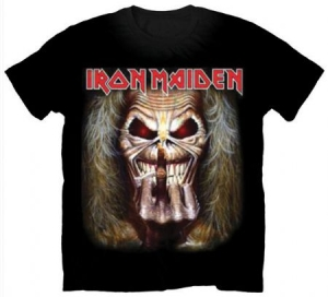 Iron Maiden Mens T-Shirt Eddie Candle Finger