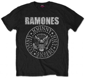 Ramones - Seal Mens Black T Shirt in the group OTHER / Merchandise at Bengans Skivbutik AB (2628331r)