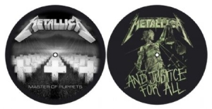 Metallica - Master Of Puppets & ...And Justice For All - Slipmat in the group OTHER / Merch Slipmats at Bengans Skivbutik AB (2645220)