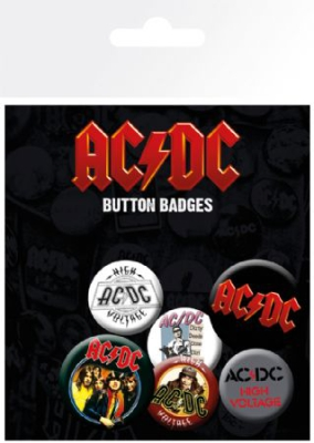 AC/DC - AC/DC Badge Pack Pin Mix in the group Minishops / AC/DC at Bengans Skivbutik AB (2989329)