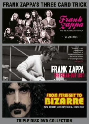 Frank Zappa - Three Card Trick (3 Dvd) Documentar in the group OTHER / Music-DVD & Bluray at Bengans Skivbutik AB (3045047)