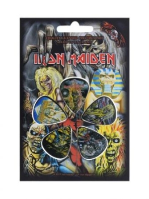 Iron Maiden - Iron Maiden Early Albums Guitar Plectrums in the group OTHER / Merchandise at Bengans Skivbutik AB (3151365)