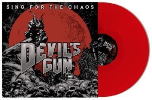 Devils Gun - Sing For The Chaos - Red in the group VINYL / Upcoming releases / Hardrock/ Heavy metal at Bengans Skivbutik AB (3488293)