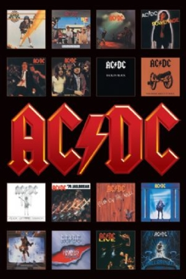 AC/DC - Album Covers Maxi Poster in the group Julspecial19 at Bengans Skivbutik AB (3573038)