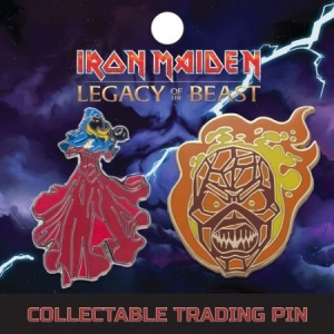 Iron Maiden - Lapel Pin Set 3: Clairvoyant And Wicker Man in the group OTHER / Merchandise at Bengans Skivbutik AB (3655490)