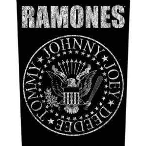 Ramones - Classic Seal - Back Patch in the group Julspecial19 at Bengans Skivbutik AB (3655653)