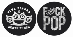 Five Finger Death Punch - Knuckle / Fuck Pop slipmats in the group OTHER / Merch Slipmats at Bengans Skivbutik AB (3737782)
