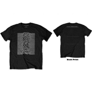 Joy Division - JOY DIVISION UNISEX TEE: UNKNOWN PLEASURES (BACK PRINT) in the group MERCHANDISE /  at Bengans Skivbutik AB (3756613)