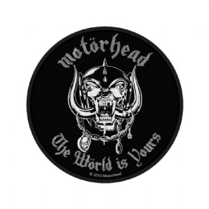 Motorhead - Standard Patch: The World Is Yours (Loose) in the group Minishops / Motörhead at Bengans Skivbutik AB (3791231)