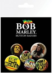 Bob Marley - Button badges 6 pack