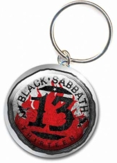 Black Sabbath - 13 Flame Circle Metal Keychain