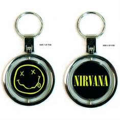 Nirvana - Premium Keychain: Smiley Logo (Spinner)