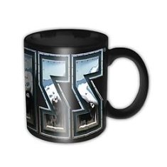 Kiss - Kiss Chrome Logo Black Boxed Mug (German Market Version)