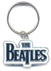 Beatles, The - Drop T Logo Keyring (Black)