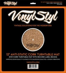 "Vinyltillbehör - Vinyl Styl 12"" Anti-Static Cork Turntable Mat"