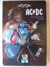 AC/DC - Ac/Dc Guitar Picks 6-Pack (Razors...)