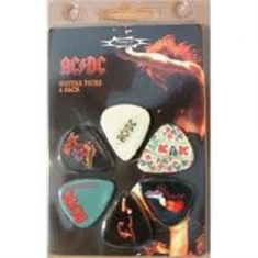 AC/DC - Ac/Dc Guitar Picks 6-Pack (One Dollar)