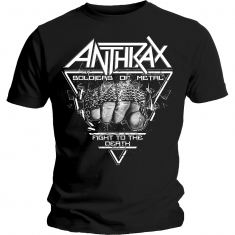 Anthrax Soilder Of Metal FTD Mens Black - T-Shirt