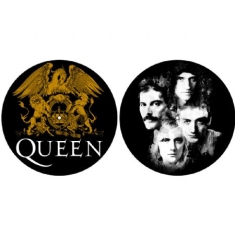 Queen - Crest & Faces - Slipmat