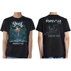 Ghost - Ghost Men's Tee: Lightbringer Popestar Tour Europe 2017 XXL
