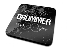 Single Coaster Drink Mat - Drummer Single Coaster