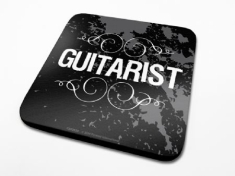 Single Coaster Drink Mat - Guitarist Guitarist Single Coaster