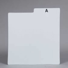 Vinyltillbehör - BAGS UNLIMITED DLPP30A LP DIVIDERS CARDS-25PK WHITE ALPHABET 30 gauge
