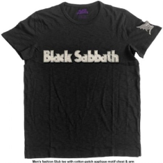 Black Sabbath - T-shirt Logo & Daemon (Applique Motifs) (M)