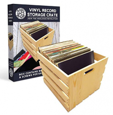 In Vinyl We Trust - Wooden Vinyl Record Storage