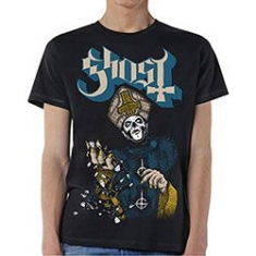Ghost - GHOST MEN'S TEE: PAPA OF THE WORLD Size M. in the group OTHER / Merchandise at Bengans Skivbutik AB (3586581)