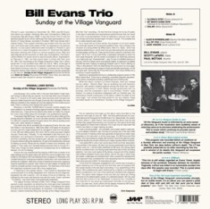 Bill Evans -Trio - Sunday At the Village Vanguard