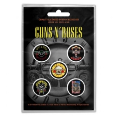 Guns N' Roses - GUNS N' ROSES BUTTON BADGE PACK: BULLET LOGO