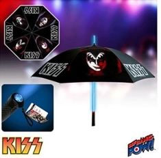 Kiss - Retro Umbrella with Light-Up Tube and Flashlight Handle IMPORT