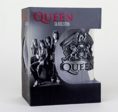 Queen - Crest - Large Glas with metal logo