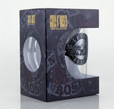 Guns N' Roses - Logo Large Glas With Metal Logo