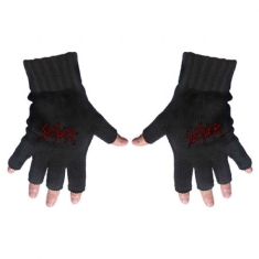 Slayer - Slayer Unisex Fingerless Gloves: Scratched Logo