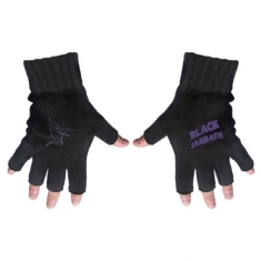 Black Sabbath - Fingerless Gloves: Purple Logo & Devil