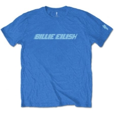 Billie Eilish - BILLIE EILISH UNISEX TEE: BLUE RACER LOGO (SLEEVE PRINT)