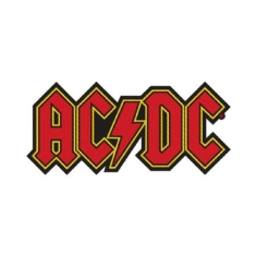 AC/DC - Standard Patch: Logo Cut-Out (Loose)