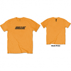 Billie Eilish - Unisex Tee orange - Racer Logo & Blohsh (Back Print)