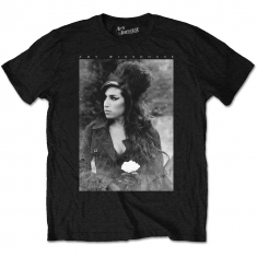Amy Winehouse - AMY WINEHOUSE UNISEX TEE: FLOWER PORTRAIT