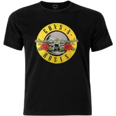 Guns N' Roses - Men's Fashion Tee: Circle Logo with Foiled Application