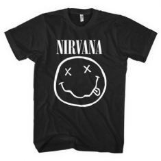 Nirvana - Nirvana Unisex Tee: White Smiley