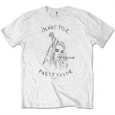 Billie Eilish - Unisex Tee White - Party Favour