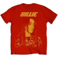 Billie Eilish - Unisex Tee Red - Racer Logo Jumbo