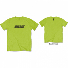 Billie Eilish - Billie Eilish Unisex Tee: Racer Logo & Blohsh (Back Print)