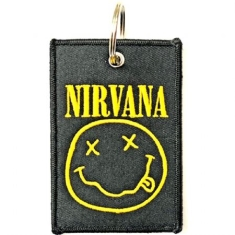 Nirvana - Nirvana Keychain: Smiley (Double Sided Patch)