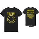 Nirvana - UNISEX TEE: FLOWER SNIFFIN (BACK PRINT)