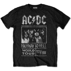 AC/DC - UNISEX TEE: HIGHWAY TO HELL WORLD TOUR 1979/1980